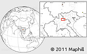 Blank Location Map of Ban Houaytha