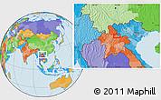 Political Location Map of Ban Houaytha