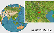 Satellite Location Map of Ban Houaytha