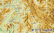 """Physical Map of the area around 20°53'8""""N,102°55'30""""E"""