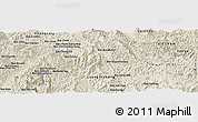 "Shaded Relief Panoramic Map of the area around 20° 53' 8"" N, 102° 55' 30"" E"