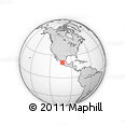 Outline Map of Calle México, rectangular outline