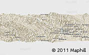 Shaded Relief Panoramic Map of Ban Naxai