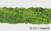Satellite Panoramic Map of Bản Suối Gioi