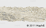Shaded Relief Panoramic Map of Bản Suối Gioi
