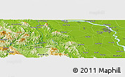 "Physical Panoramic Map of the area around 20° 53' 8"" N, 105° 28' 29"" E"