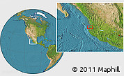 """Satellite Location Map of the area around 20°53'8""""N,105°19'29""""W"""