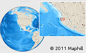 """Shaded Relief Location Map of the area around 20°53'8""""N,105°19'29""""W"""