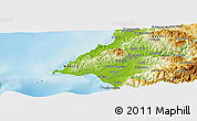 """Physical Panoramic Map of the area around 20°53'8""""N,105°19'29""""W"""