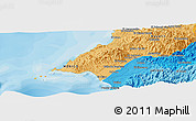 """Political Panoramic Map of the area around 20°53'8""""N,105°19'29""""W"""