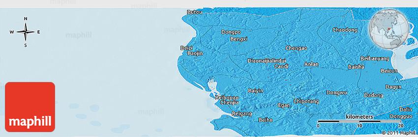 Political Panoramic Map Of Fuchu - Fuchu map