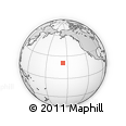 Outline Map of Haiku, rectangular outline