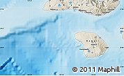 """Shaded Relief Map of the area around 20°53'8""""N,157°10'30""""W"""