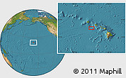 """Satellite Location Map of the area around 20°53'8""""N,158°52'30""""W"""