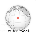 """Outline Map of the Area around 20° 53' 8"""" N, 159° 43' 29"""" W, rectangular outline"""