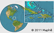 """Satellite Location Map of the area around 20°53'8""""N,73°52'30""""W"""