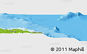 """Physical Panoramic Map of the area around 20°53'8""""N,74°43'29""""W"""