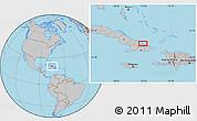 Gray Location Map of El Júcaro