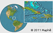 """Satellite Location Map of the area around 20°53'8""""N,75°34'29""""W"""