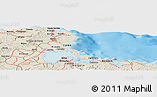 Shaded Relief Panoramic Map of Cueto