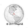 """Outline Map of the Area around 20° 53' 8"""" N, 78° 58' 29"""" W, rectangular outline"""