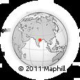 Outline Map of Nuapada, rectangular outline