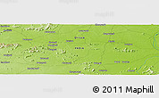 """Physical Panoramic Map of the area around 20°53'8""""N,83°22'30""""E"""