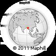 Outline Map of Lebon, rectangular outline