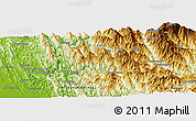 """Physical Panoramic Map of the area around 20°53'8""""N,93°34'29""""E"""