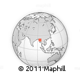 Outline Map of Mahlaing, rectangular outline