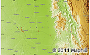 """Physical Map of the area around 20°53'8""""N,96°7'30""""E"""