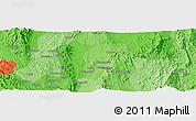 Political Panoramic Map of Taunggyi