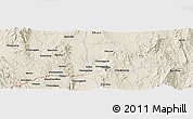Shaded Relief Panoramic Map of Hingabyin