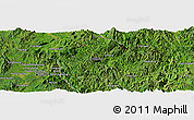 Satellite Panoramic Map of Wan Hat-yao