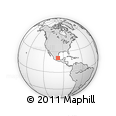 Outline Map of Tolantongo, rectangular outline