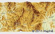 Physical 3D Map of Wān Möngnoi