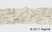 Shaded Relief Panoramic Map of Wān Ai-yē