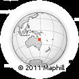 Outline Map of Bowen, rectangular outline