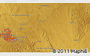 """Physical 3D Map of the area around 20°2'43""""S,28°58'30""""E"""