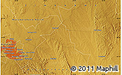 """Physical Map of the area around 20°2'43""""S,28°58'30""""E"""