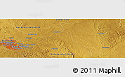 """Physical Panoramic Map of the area around 20°2'43""""S,28°58'30""""E"""