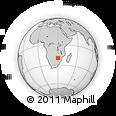 Outline Map of Zvishavane, rectangular outline