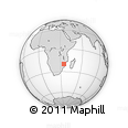 Outline Map of Beira, rectangular outline