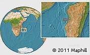 "Satellite Location Map of the area around 20°2'43""S,43°25'29""E"