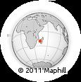 "Outline Map of the Area around 20° 2' 43"" S, 43° 25' 29"" E, rectangular outline"