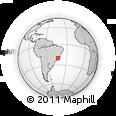 Outline Map of São Domingos Do Prata, rectangular outline