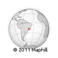 Outline Map of Brumadinho, rectangular outline