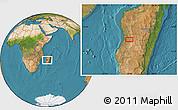 "Satellite Location Map of the area around 20°2'43""S,45°7'30""E"