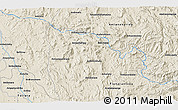 """Shaded Relief 3D Map of the area around 20°2'43""""S,45°58'30""""E"""