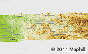 Physical Panoramic Map of Besakay
